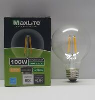 12 Pack 100w replacement LED Filament G25 Vanity Bulbs 7w 2700k 800 Lum Dimmable