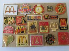 c3 lotto 20 spille McDONALDS fast food mc donald's badge donald spille lot pins