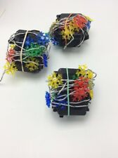 Christmas lights  colored  snow flakes with battery packs AA batteries lot of 3