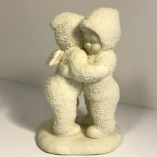 Snowbunnies Figurine Department 56 Angels Hug Porcelain Statue Vintage Sculpture