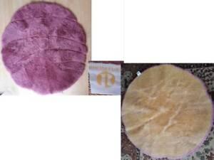 Rhomtuft Badvorleger Badteppich pink ca 100 cm im Durchmesser rund