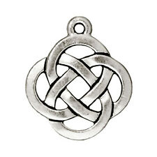 Silver Celtic Open Knot Charms, TierraCast Infinity Pendants 5/Pkg