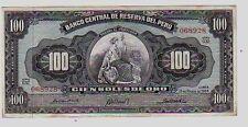 Perù 100 soles de oro 1964   FDS  UNC  pick 86 Lotto 438