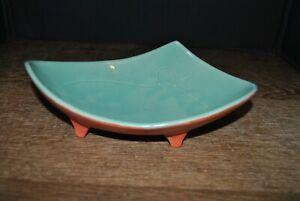 Mccoy Blue / Aqua And Orange Planter Bulb Bowl