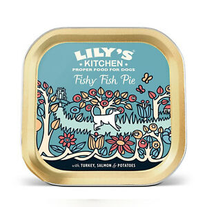 Lily's Kitchen Proper Food for Dogs, 150 g, Fishy Fish Pie with Peas 1 x Tin