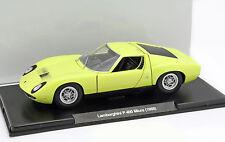 Lamborghini P 400 Miura Baujahr 1968 hellgrün 1:24 Leo Models