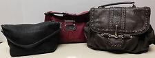 Lot of 3 Distressed Shoulder Bag Handbag Guess Tignanello Rustic Couture