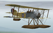 Giant 1/4 Scale British WW-I Sopwith Baby Biplane Plans, Templates, Instructions