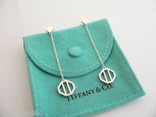 Tiffany & Co Silver Picasso Zellige Dangling Dangle Long Earrings Rare Excellent