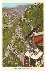 Tramway Gondola,Bridal Veil Falls,Provo Canton,Utah, Unused Vintage Postcard
