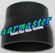 """Silicone Straight Reducer Hose 89mm < 102mm / 3.5"""" < 4"""" Black"""