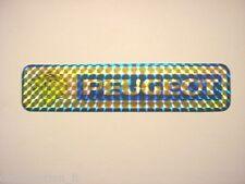 VECCHIO ADESIVO AUTO anni '80 / Old Sticker PEUGEOT (cm 16 x 3,5)