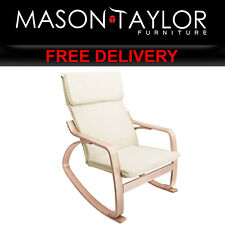 Mason Taylor Bentwood Fabric Rocking Armchair Beige ARMCHAIR-01-BG