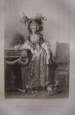 Grande gravure Portrait de Louise Marie Adélaïde de Bourbon  Duchesse d'Orléans