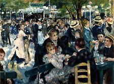 Moulin Galette by Pierre-Auguste Renoir Giclee Fine Art Print Repro on Canvas