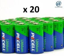Lot de 20 piles lithium CR123A Pkcell ( vrac/bulk ) 3 Volts en 1500 mAh