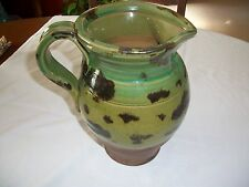Handcrafted Hand Thrown Pottery 1 Gallon Size Pitcher