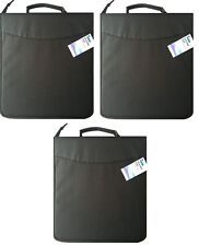 Triple Pack of Black Fabric CD208 CD Holder Holds 208 CD or DVD Discs