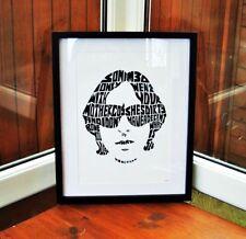 Happy Mondays/Shaun Ryder/Kinky Afro A3 size typography art print/poster