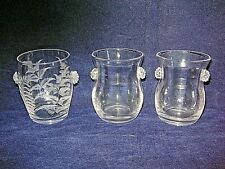 3 x Whitefriars ? Victorian glasses With Raspberry Prunts