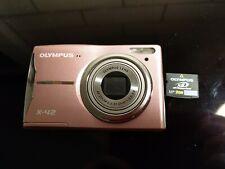 Olympus X-42 12.0MP Digital Camera - Flamingo pink