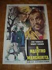 Il maestro e Margherita (Tognazzi). Manifesto originale 1972; cm.100x140. Raro!
