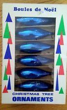 Vintage Teardrop Mercury Glass Christmas Ornaments Original Box Marked Poland