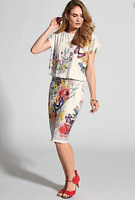 Versatile and Stylish Easy On Jersey Floral and Butterfly Print Summer Dress 14