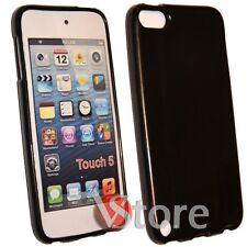 Cover Custodia Per iPod 5 Nero Silicone Case Gel TPU + Pellicola Salva Display
