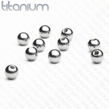 Body Jewelry Replacement Parts - 10pk Grade 23 Titanium Threaded Balls