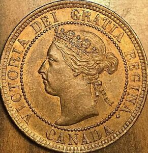 1901 CANADA LARGE CENT PENNY 1 CENT - Red/brown Uncirculated