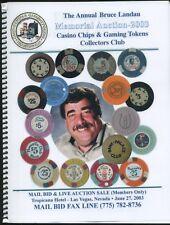 "2003 CASINO CHIP AUCTION CATALOG CC&GTCC CCA  GAMBLING ""POKER CHIP"""