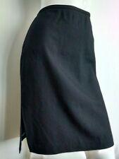 J. CREW black skirt size 12 --MINT-- Wool blend side splits knee length