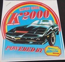 Aufkleber K.I.T.T. powered by darda Motor Knight Rider K2000 Sticker