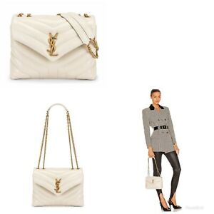 Saint Laurent LouLou Shoulder Bag Matelasse Chevron Leather Small-SOLD OUT $2090
