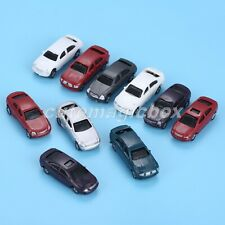 10Pcs Plastic Painted Model Cars HO Scale 1:100 For Building Park Street Layout