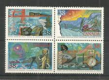 CANADA 1989 EXPLORATION OF CANADA 4TH ISSUE SG,1319-1322 UM/M NH LOT 4799A