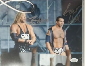 Kevin Nash & Scott Hall Authentic Dual Signed 8x10 Photo JSA COA NWO Outsiders