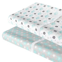 Changing Pad Cover Standard Baby Changing Pad Cradle Sheet Lovely Print 2 Pack