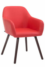 Chaise de salle à manger rouges en bois massif pour la maison