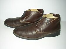 Johnston & Murphy Brown Pebbled Leather Chukka Boots SZ Mens 11.5
