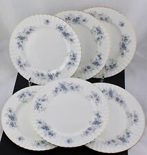 """SET 0F 6 ROYAL ALBERT CHINA OLD COUNTRY ROSES DINNER PLATES """"BLUE BLOSSOM"""" - NEW"""