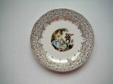 Limoge Plate Dish Triumph American Limoges China 2 women & a man