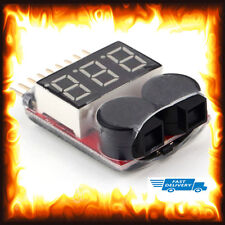 1S 8S Lipo Battery Voltage Meter Checker Tester Warning Buzzer Alarm RC Heli Car
