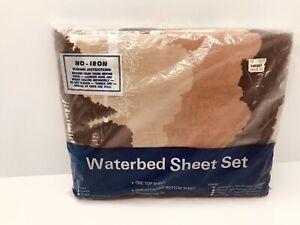 Vintage Waterbed Sheet Set Size King Model Pine Lake New