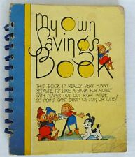 My Own Savings Book Vintage Coin Book