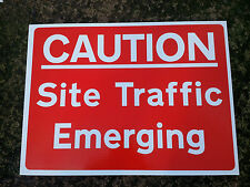 Site Safety Construction SITE TRAFFIC EMERGING signs TWIN PACK Robust 5mm