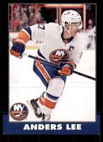 2020-21 UD O-Pee-Chee Retro Black Border 288 Anders Lee /100 New York Islanders