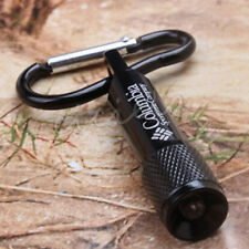 Practical Black Mini LED Flashlight Torch Clip Key Chain Carabiner With Battery