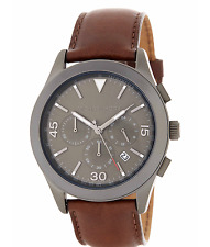Michael Kors Men's MK8471 Gareth Chronograph Brown Leather Strap Watch New Boxed